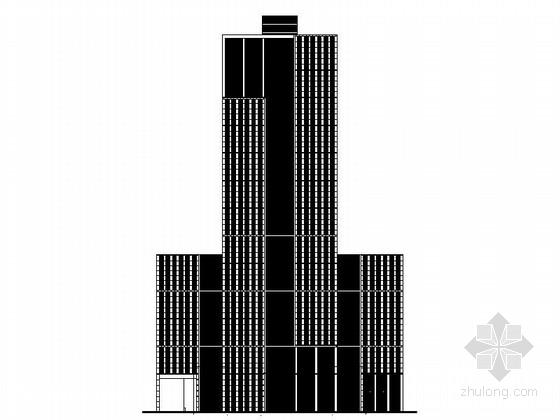 [上海]122米超高层知名企业办公总部建筑设计施工图(含效果图)