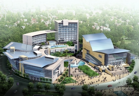 [贵州]大型文化中心规划及单体设计方案文本(含CAD,动画)