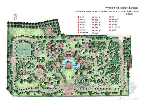 锦州市中心公园设计方案(手绘)
