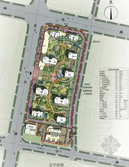 现代风格高层住宅区规划总平面图