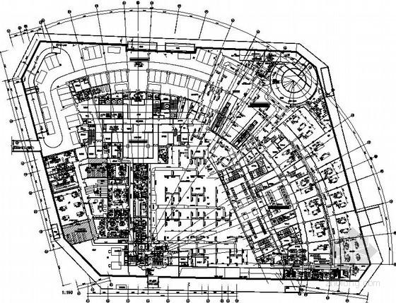 [天津]大型办公综合楼暖通空调全套施工图纸103张(15万平米、人防、换热站、冰蓄冷)