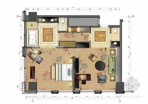 [重庆]奢华五星级酒店室内设计方案图