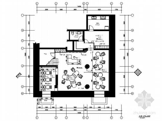 [吉林]某时尚沙龙发廊室内装修施工图(含效果)