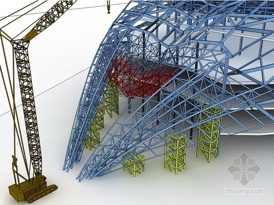 [湖北]国际会议中心会议厅钢结构施工组织设计(附较多三维图)