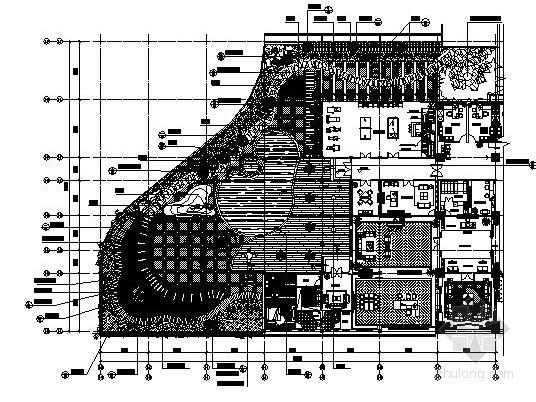 某办公楼屋顶花园景观工程施工图