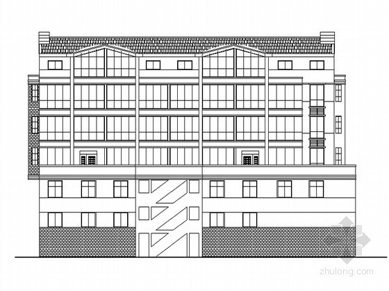 [苏州]某六层沿街商住楼建筑扩初图(内附现场照片及建造过程)