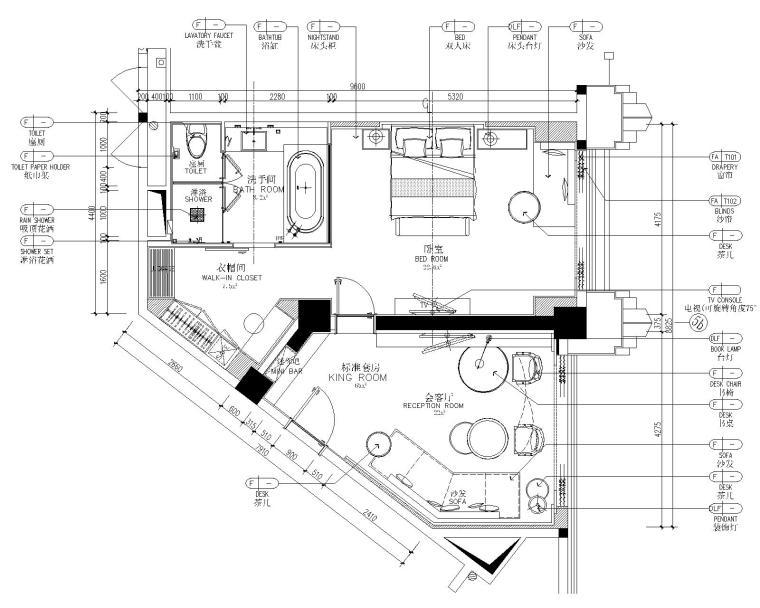 [CCD]厦门正元希尔顿逸林酒店室内装修施工图+设计方案+效果图