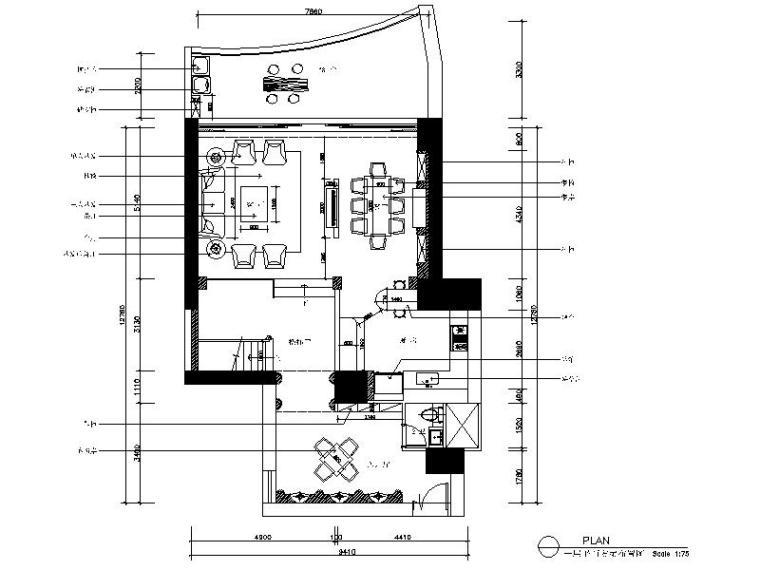 [南京]清新简欧混搭风样板房室内设计施工图