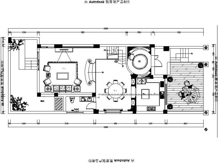 [成都]新古典欧式风格别墅室内设计施工图(含效果图)