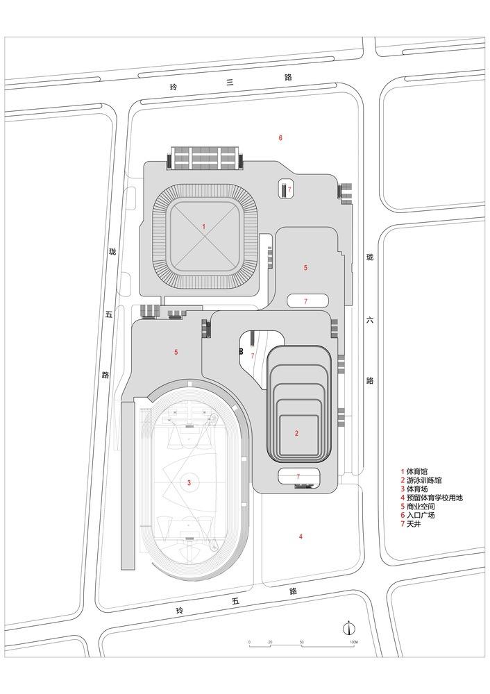 临安半透明轻盈的体育文化会展中心平面图 (27)