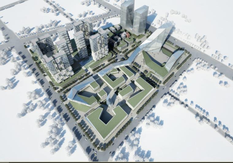 超高层现代风格成都锦鳞创意园规划设计