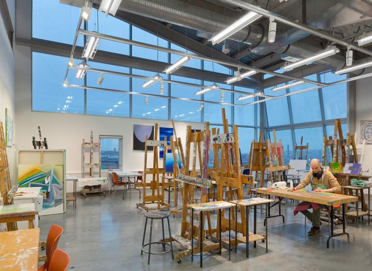 加拿大带有彩色元素的外立面艺术学院-11