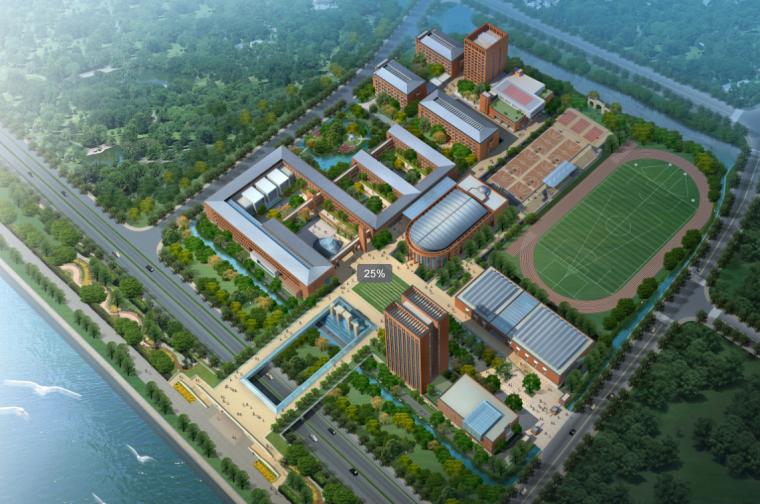 [浙江]杭州高中方案文本(高清效果图+CAD图纸)