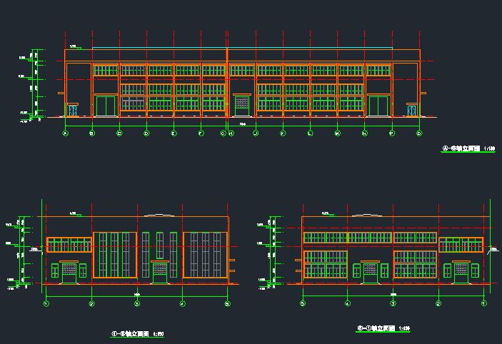 钢结构框架厂房施工图纸(含建筑结构、给排水)_1