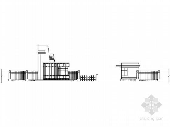 某学校大门建筑施工图