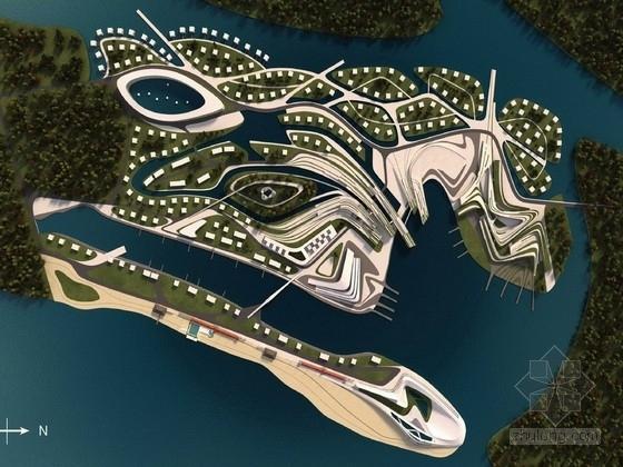 [河北]科技化滨水岛屿未来生态旅游景观规划设计方案