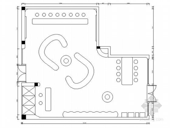 [江苏]某名品专卖店室内装修施工图(含效果)