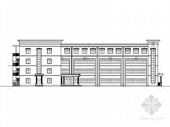 [江苏]现代风格市级重点中学教学楼建筑设计施工图