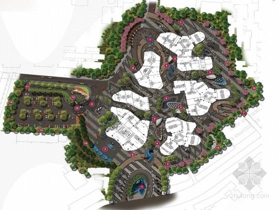 [重庆]流动性商业住宅景观规划设计方案