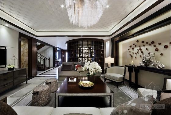 [深圳]现代时尚顶层叠加别墅样板房装修实景图