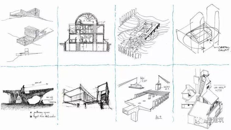 100幅建筑师的草图,手绘更好的表达构思!!