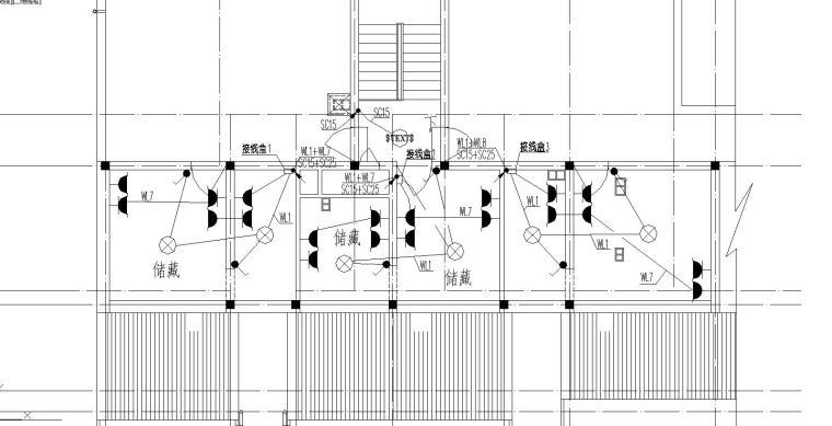 V型住宅平面资料下载-某多层住宅强弱电图