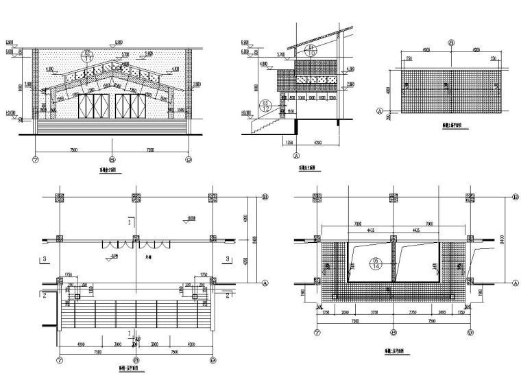 钢结构雨篷幕墙图纸及软件计算书