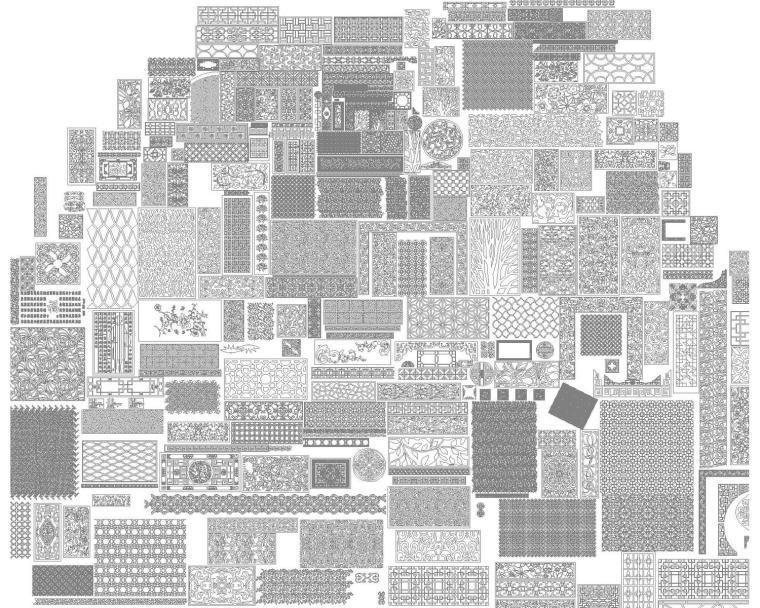 CAD施工图中欧经典图案大全