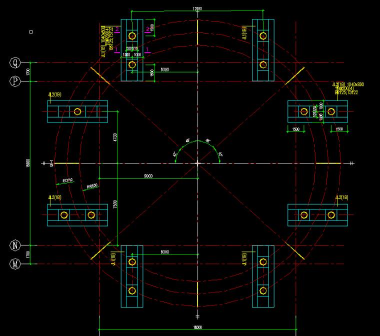 环形天桥钢结构设计图纸