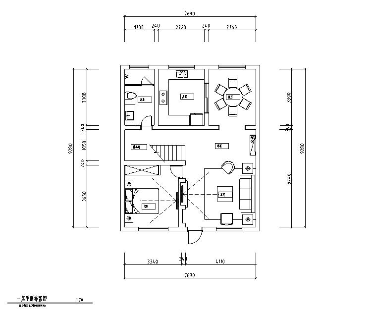 [山西]港式风格200平米自建房住宅设计施工图(附效果图)
