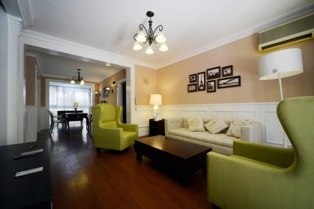 格调一致的客厅电视背景墙设计欧式风格效果图