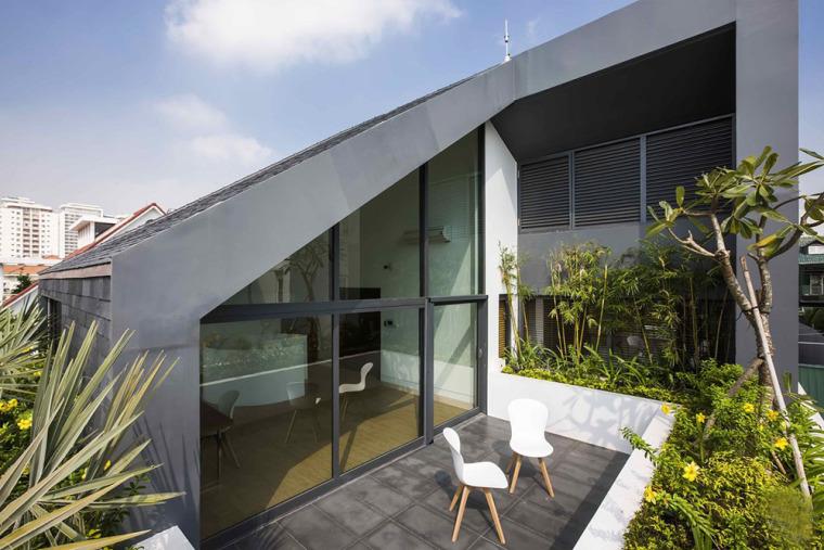 越南胡志明白色方块住宅-5