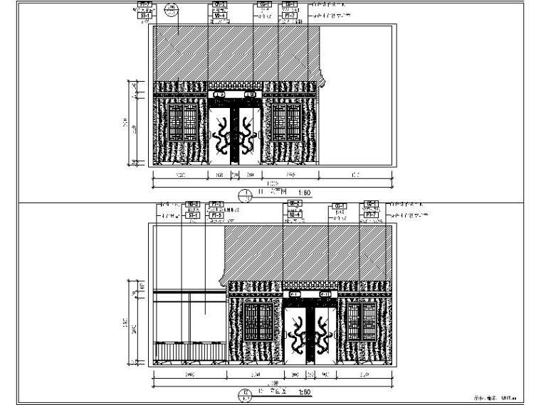 [珠海]中式特色火锅店设计施工图(含效果图)_3