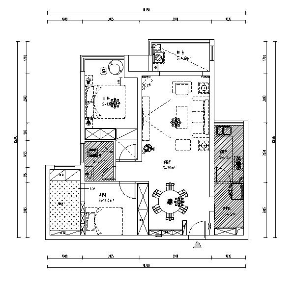 现代风格小家居局部改造施工图(含效果图)