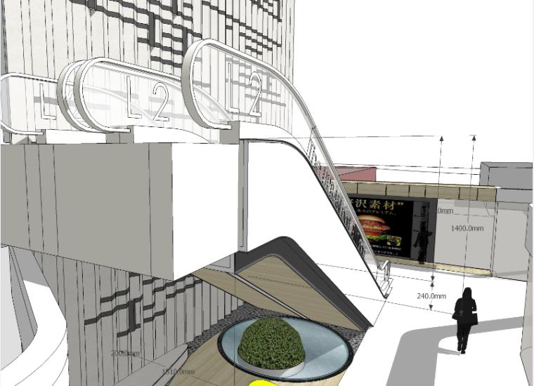 [福州]三层现代风格中心商场施工图(含效果图+SU模型)_5