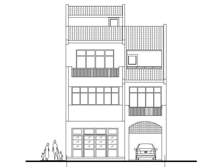 [广东]某3层新农村独栋别墅建筑设计文本(包含CAD+效果图)