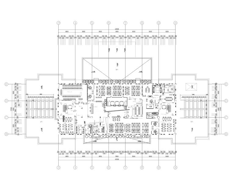 金一文化产业集团办公室装修设计施工图+效果图