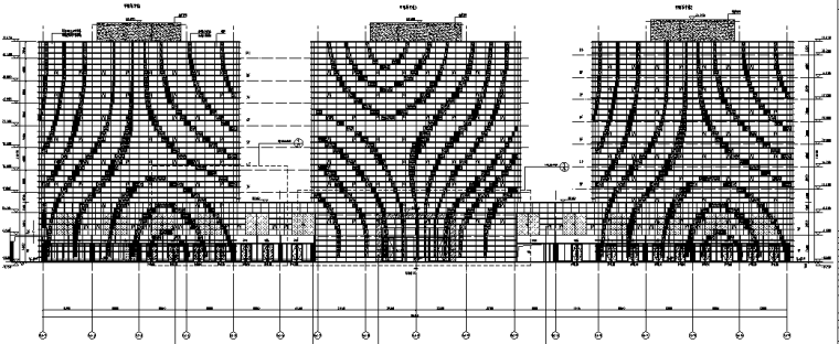 广州万达广场步行街商业B区写字楼施工图