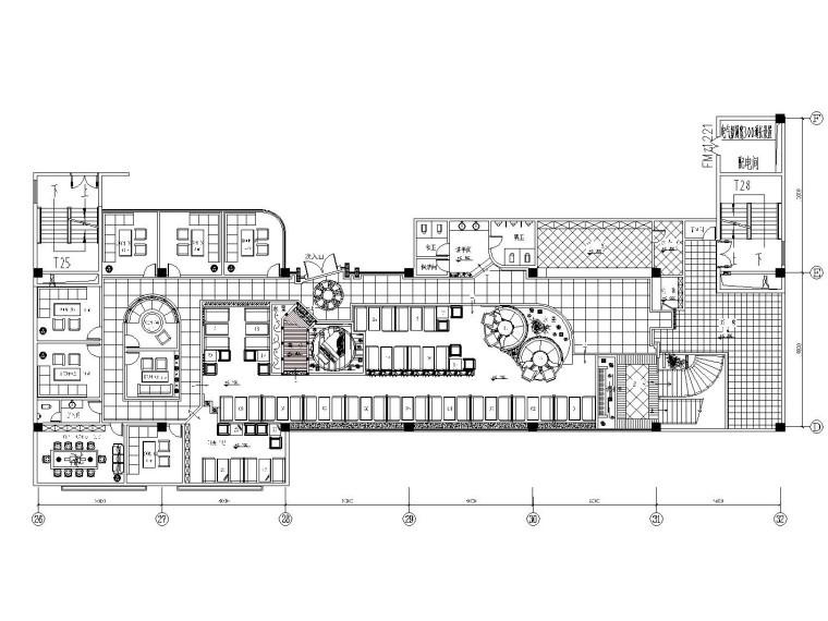 [成都]现代简约风格咖啡厅室内装修全套施工图
