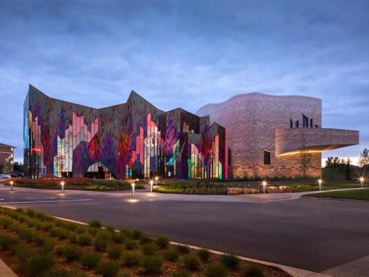 美国迎风舞动的地标性博物馆