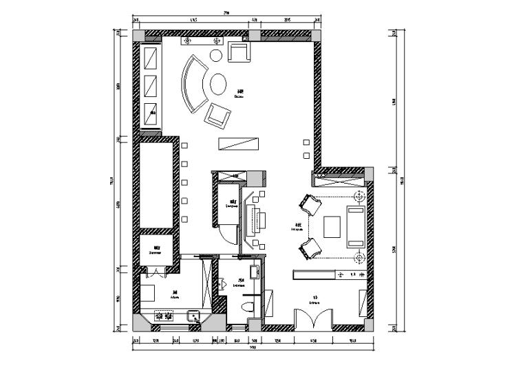 [上海]68平米玉主题会所空间设计施工图(附效果图)