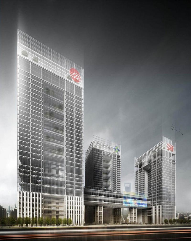 [分享]全球跨度最大竖向幕墙钢结构系统项目上海国际金融中心顺利封顶