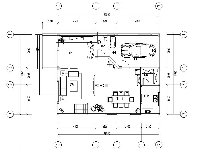 欧式风格二层别墅设计施工图(附效果图)