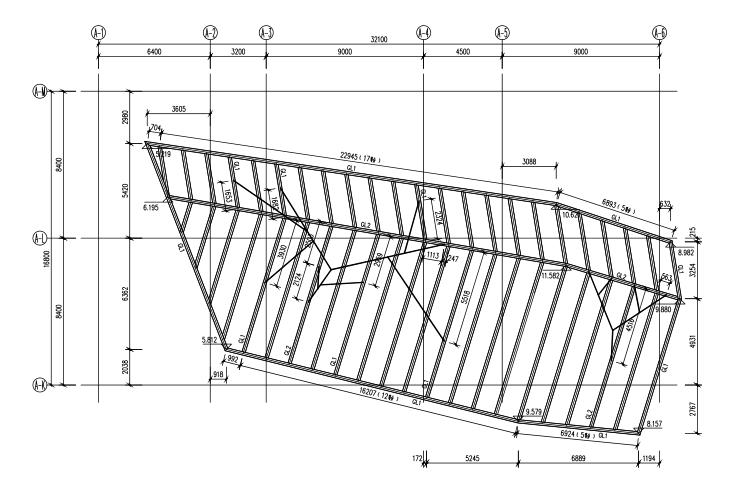 大学树形钢结构雨棚结构施工图(CAD、17张)