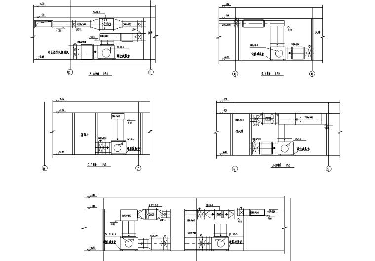 [山东]商业综合体项目暖通施工图(含负荷、水力计算表,空调机房详图,制冷机房详图)