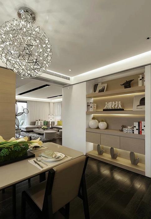 济南华润仰山红叶林装修设计160平现代风格完工实景案例