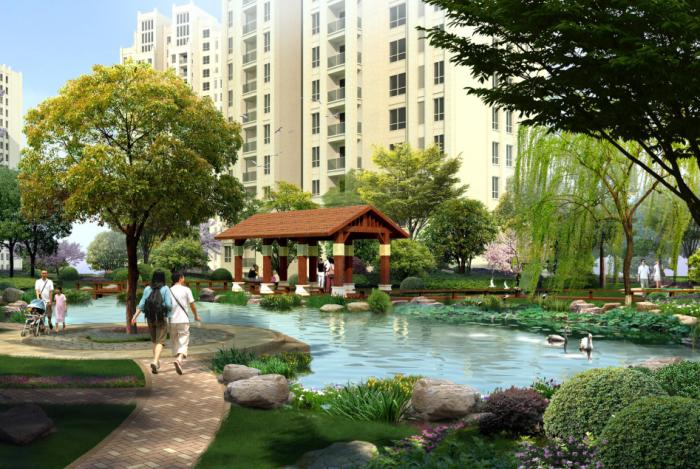[辽宁]新古典主义高档居住区景观设计方案