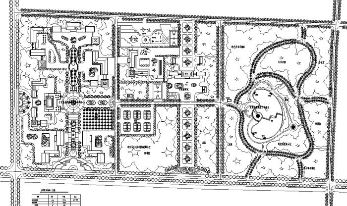 生态农业度假区景观规划设计CAD平面图