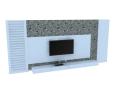白色简约背景墙3D模型下载