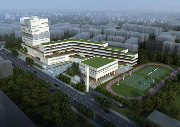 [四川]高层现代风格院落式中学建筑方案文本(含图书馆、艺术楼)